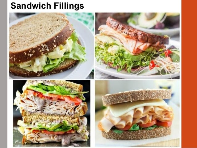 • Options  Lettuce leaves  Slices of tomato or onion  Sprouts  Marinated or brined peppers  Olives • Choose with thou...