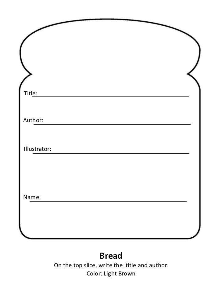 Sandwich book report for Sandwich template for writing