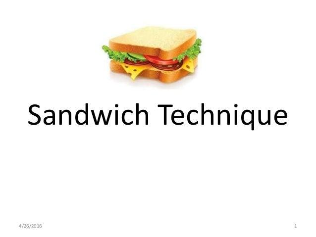 Sandwich Technique 4/26/2016 1