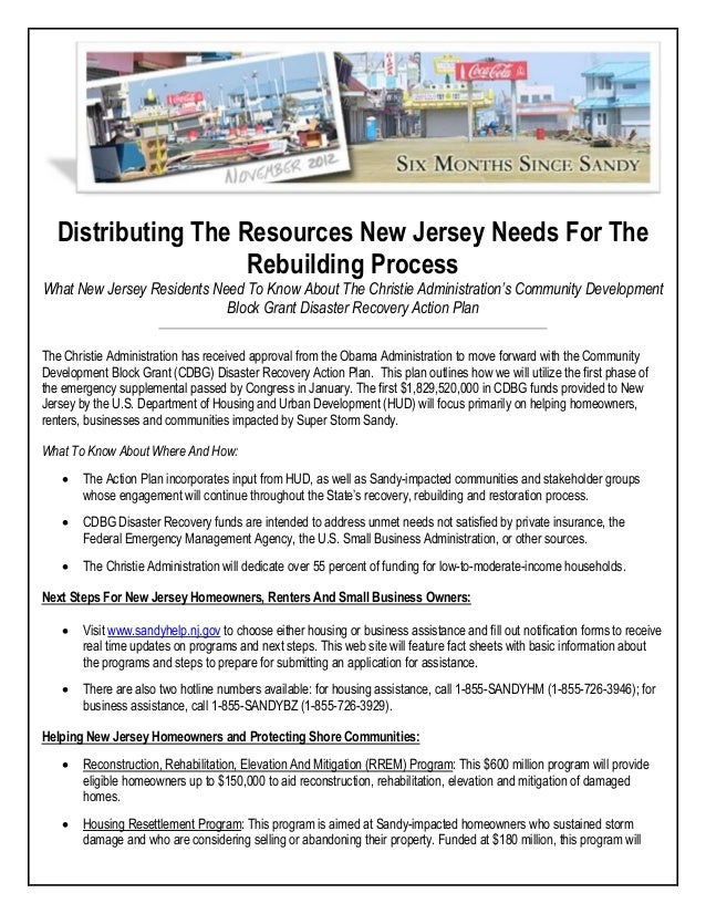 Distributing The Resources New Jersey Needs For TheRebuilding ProcessWhat New Jersey Residents Need To Know About The Chri...