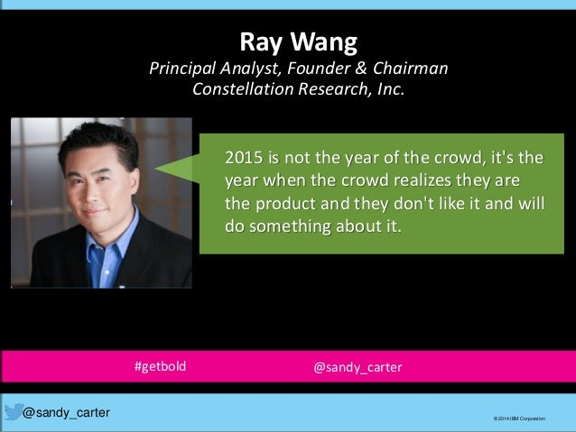 2015 is not the year of the crowd, it's the year when the crowd realizes they are the product and they don't like it and w...