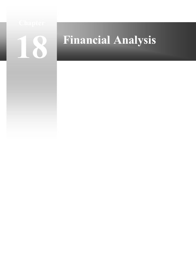 Chapter18        Financial Analysis