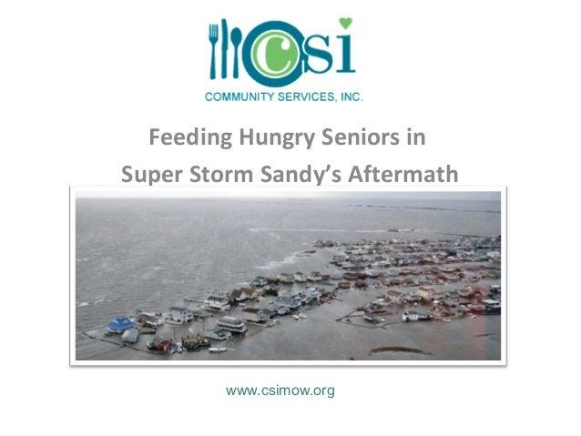 Feeding Hungry Seniors inSuper Storm Sandy's Aftermath        www.csimow.org