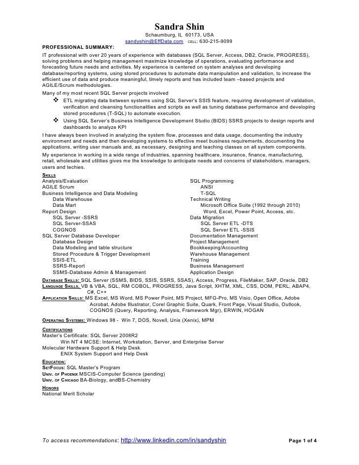 Sandy Shin SQL-CV