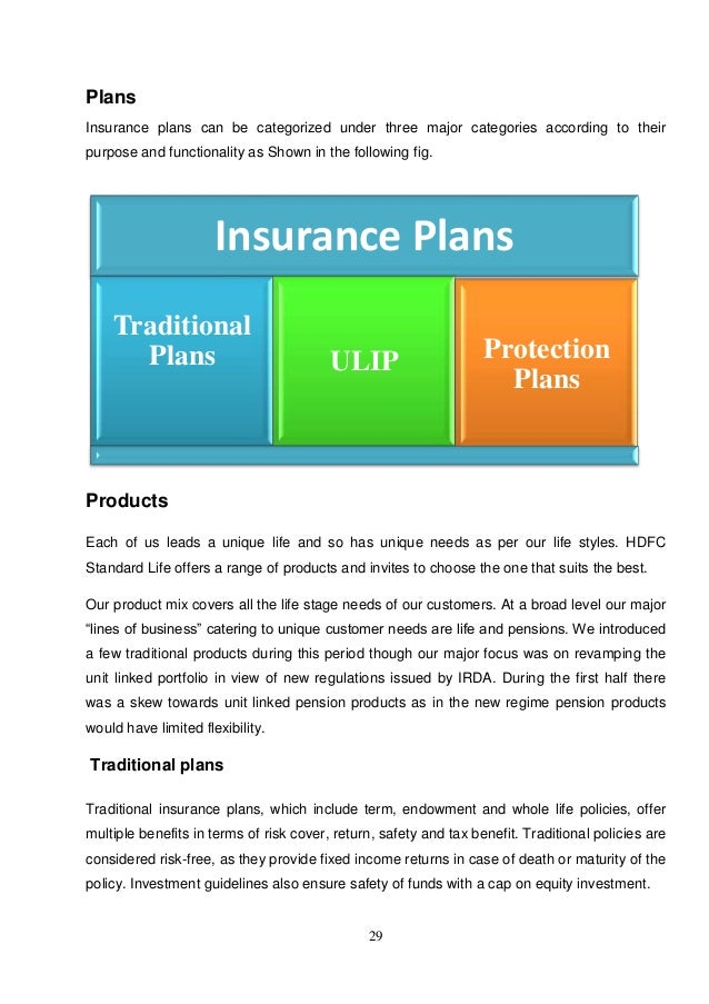 summer traning project report on hdfc standard life insurance Life insurance company in india offering best life insurance plans and policies covering a range of life insurance products like term insurance, savings, ulip.