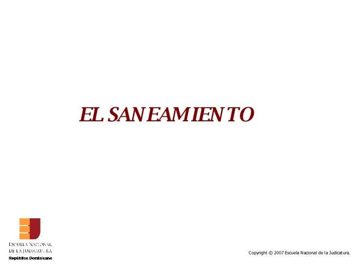 EL SANEAMIENTO