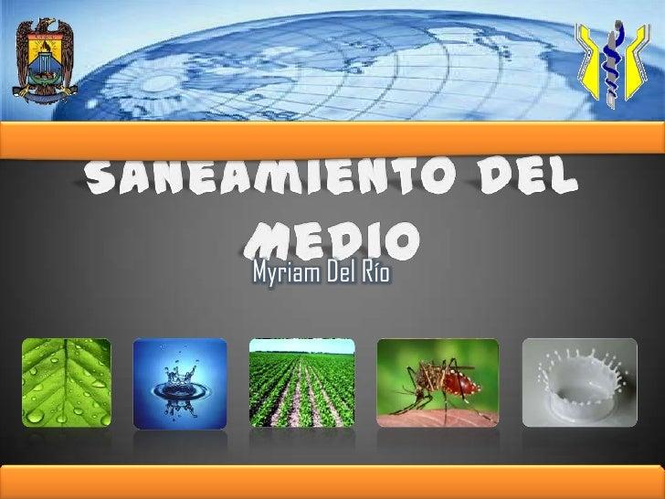 Saneamiento del Medio<br />Myriam Del Río<br />