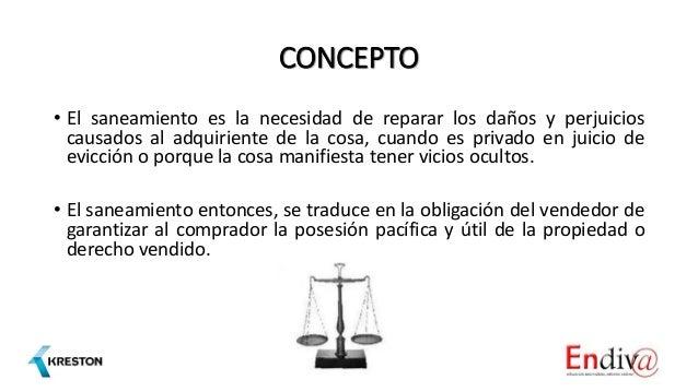 Saneamiento por evicción y vicios ocultos Slide 2