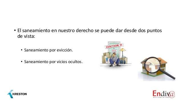 Saneamiento por evicción y vicios ocultos Slide 3