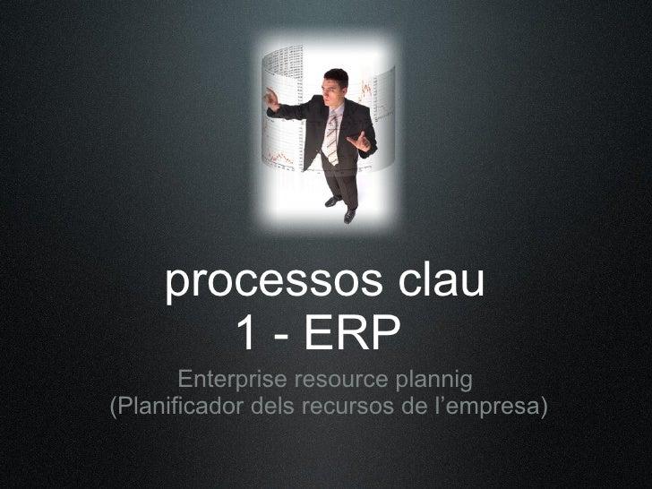 processos clau         1 - ERP        Enterprise resource plannig (Planificador dels recursos de l'empresa)