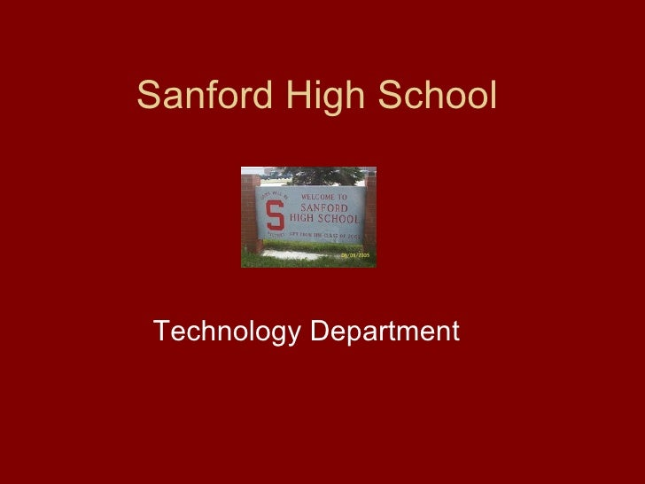 Sanford High School Technology Department