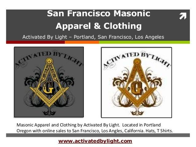 San Francisco Masonic Apparel & Clothing - Mason Clothing by