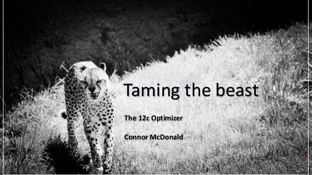 Copyright © 2017, Oracle and/or its affiliates. All rights reserved. Taming the beast The 12c Optimizer Connor McDonald 1