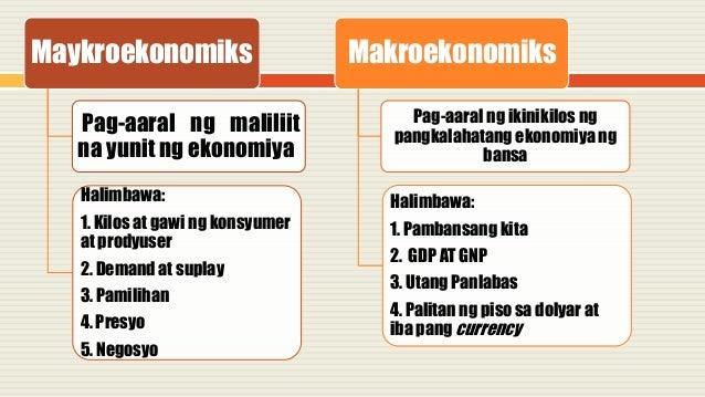 2 saklaw ng ekonomiks