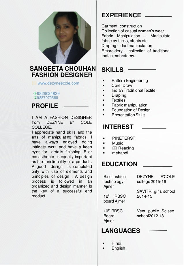 Sangeeta Chouhanb Sc Fashion Design One Year Women S Wear Diploma P