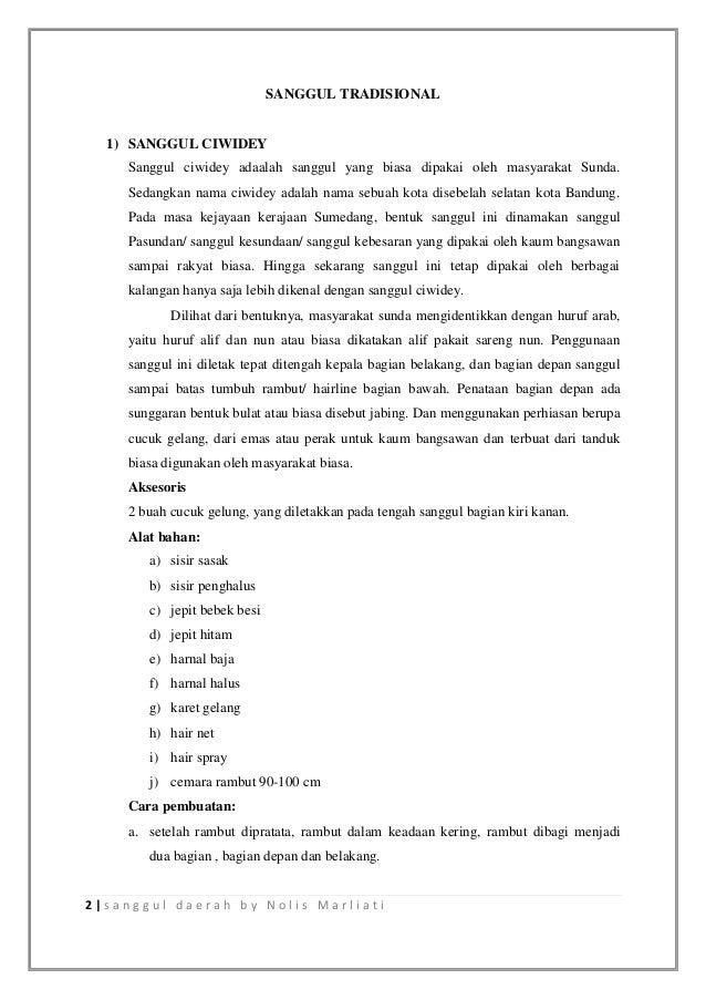 Sanggul tradisional Slide 2