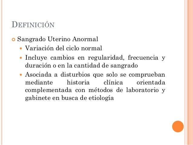 Sangrado uterino anormal origen no anatómico
