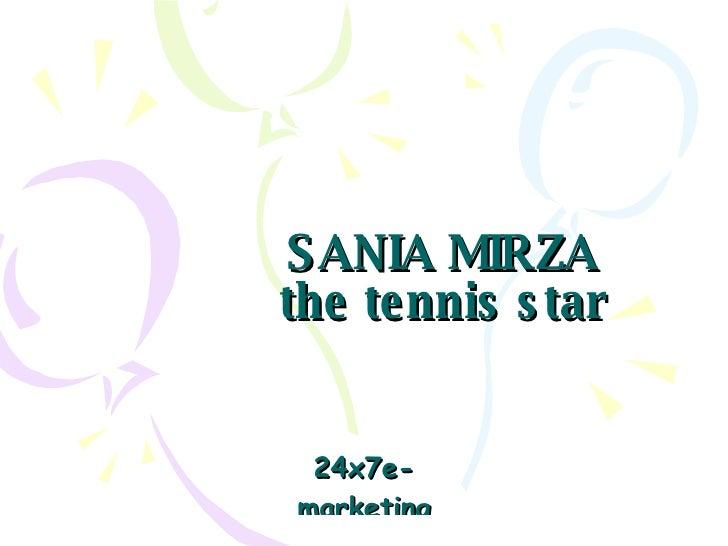 SANIA MIRZA the tennis star