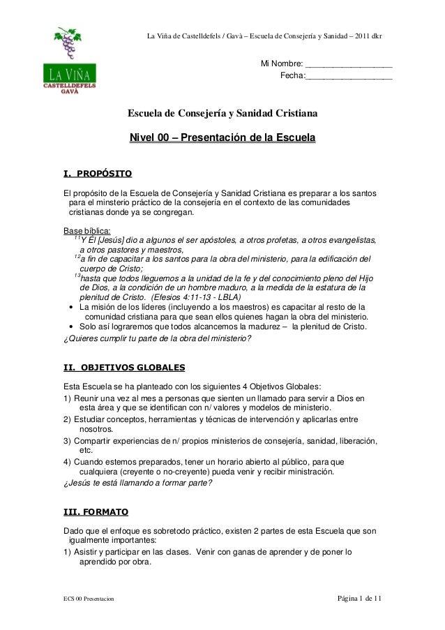 La Viña de Castelldefels / Gavà – Escuela de Consejería y Sanidad – 2011 dkr                                              ...