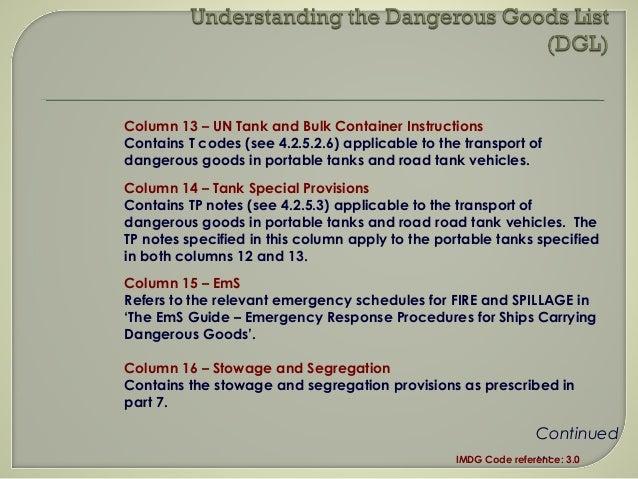 s an introduction to the imdg code rh slideshare net IMDG-Code 2013 Dangerous Goods IMDG Code List