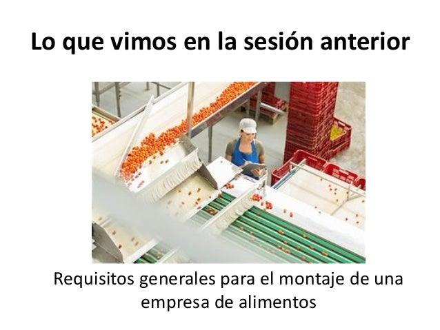 reglamentos técnicos sanitarios industria alimentos Slide 2
