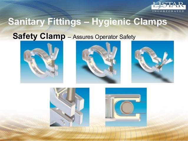 Sanitary Fittings – Hygienic Clamps  Safety Clamp – Assures Operator Safety