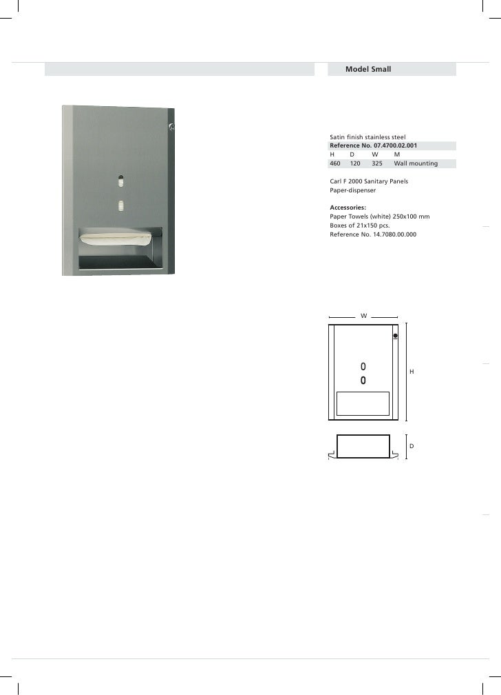 ModelSmall         Satin finish stainless steel     ReferenceNo.07.4700.02.001     H      D        W       M     460   ...