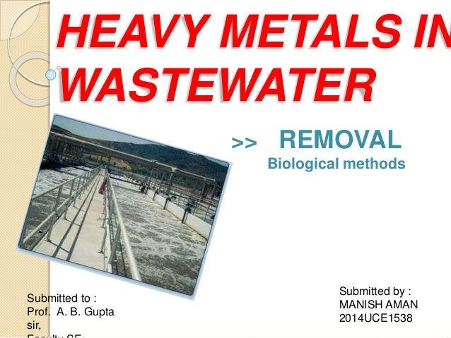 heavy metals removal from sewage