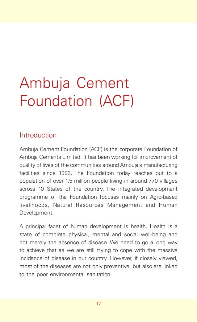 Project Report on Ambuja Cement...