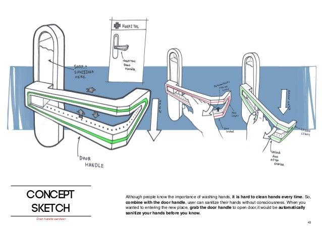 43. 43 concept sketch Door handle ...  sc 1 st  SlideShare & Sanitise door handle pezcame.com