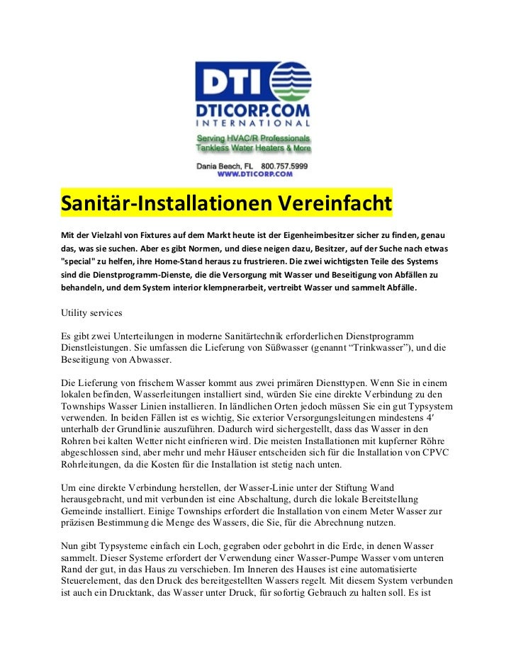 Sanitär-Installationen VereinfachtMit der Vielzahl von Fixtures auf dem Markt heute ist der Eigenheimbesitzer sicher zu fi...