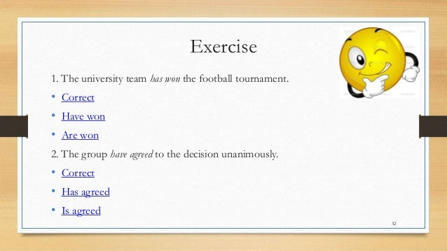 32 rules subject verb agreement Subject/verb agreement part 2  32 choose the answer  there are many rules about subject verb agreement, but we are going to cover just one more.