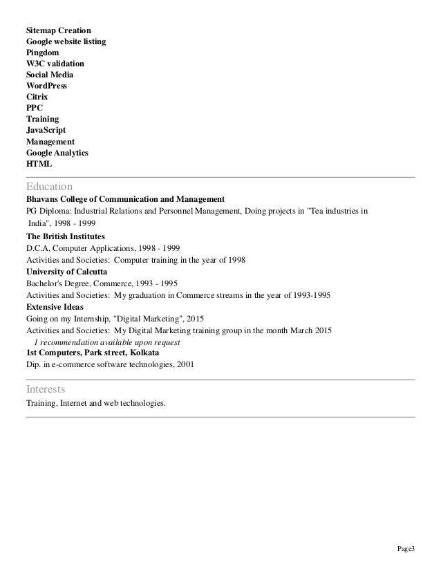 resume of sanjibkumar das