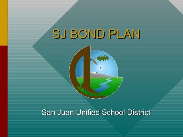 San Juan School District Bond Plan