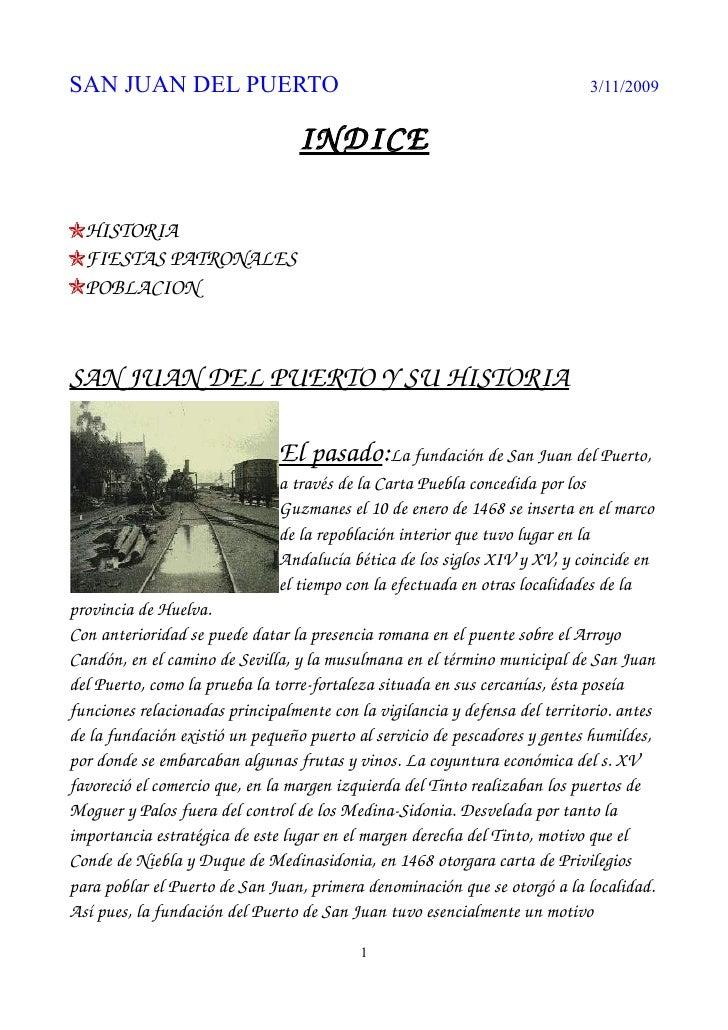 SAN JUAN DEL PUERTO                                                           3/11/2009                                   ...