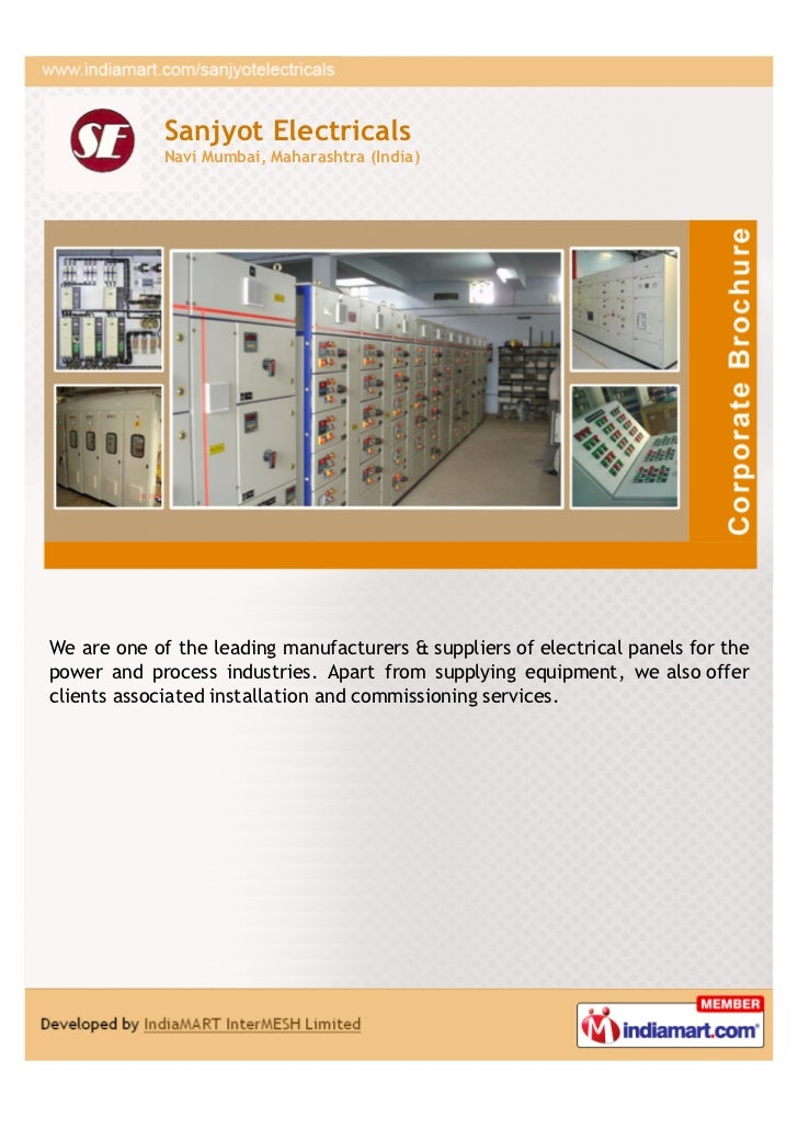 Sanjyot Electricals             Navi Mumbai, Maharashtra (India)We are one of the leading manufacturers & suppliers of ele...