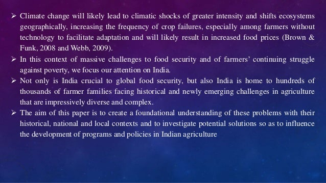 Essay on Agriculture in India-Prospects and Challenges