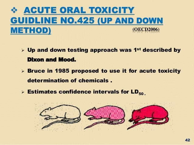oecd guidline on acute and chronic toxicity