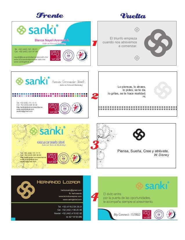 Sanki Tarjetas de Presentación Slide 3