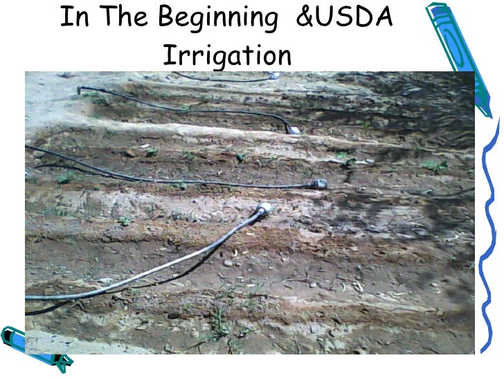 In The Beginning  &USDA Irrigation