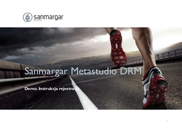 Sanmargar Metastudio DRM Demo. Instrukcja rejestracji. 1