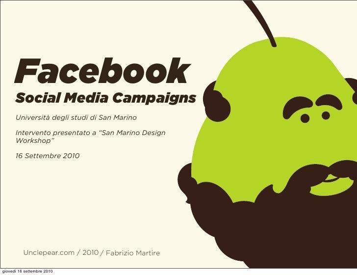 """Facebook       Social Media Campaigns       Università degli studi di San Marino        Intervento presentato a """"San Marin..."""