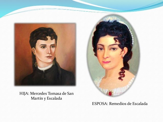 Resultado de imagen para la esposa y la hija del general san martín