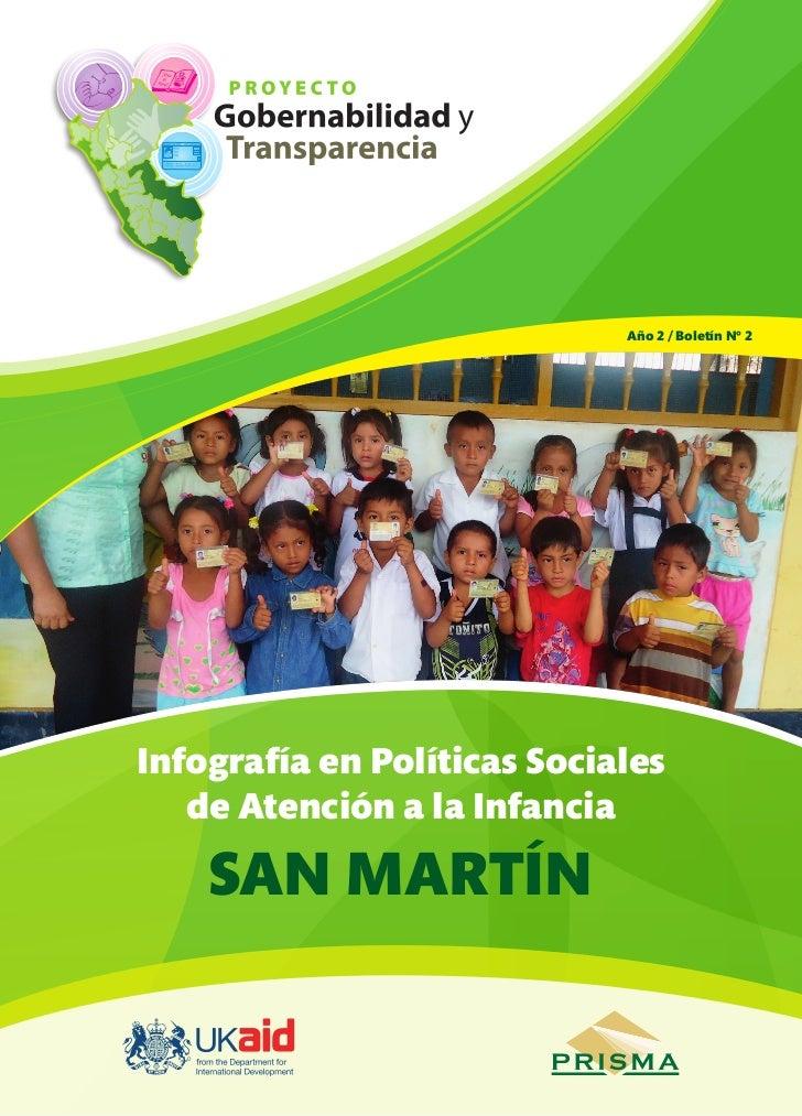 Año 2 / Boletín Nº 2Infografía en Políticas Sociales   de Atención a la Infancia    SAN MARTÍN