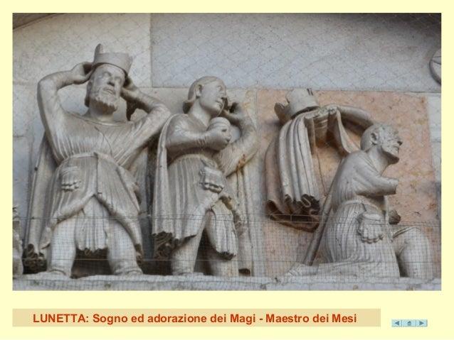 LUNETTA: Sogno ed adorazione dei Magi - Maestro dei Mesi