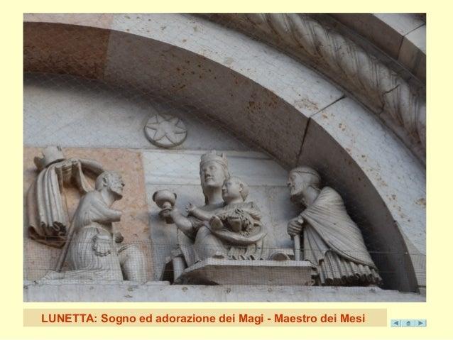 LUNETTA: Sogno ed adorazione de i Magi - Maestro dei Mesi