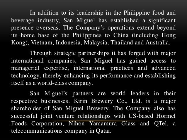 strategic management and san miguel corporation • strategic cost management, insead euro asia center, singapore,  san miguel corporation, 1999-2006 current directorships • director, splash corporation.