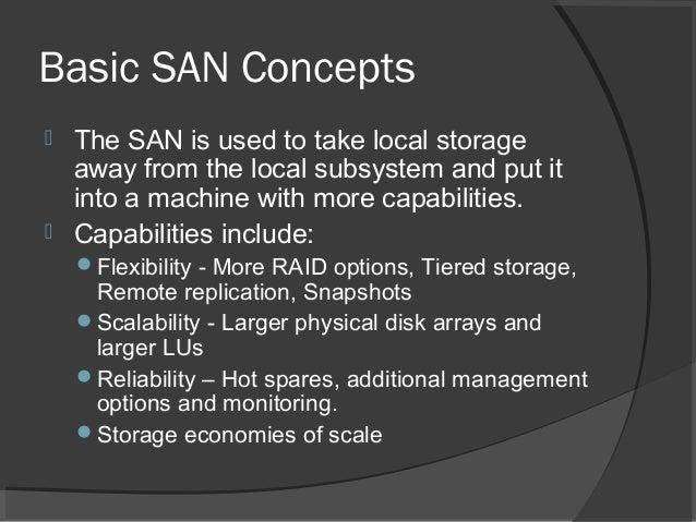 ... 2. Basic SAN Concepts ...