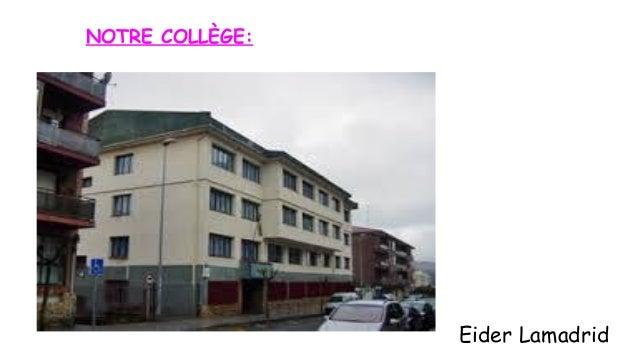 NOTRE COLLÈGE:  Eider Lamadrid
