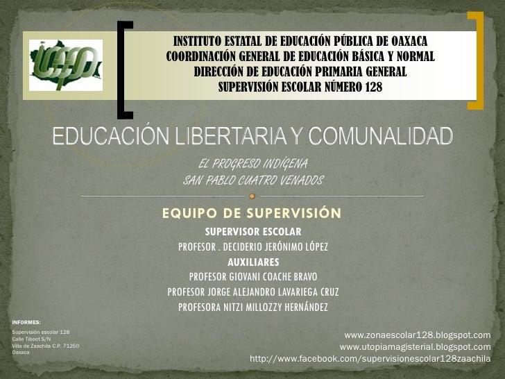 INSTITUTO ESTATAL DE EDUCACIÓN PÚBLICA DE OAXACA                               COORDINACIÓN GENERAL DE EDUCACIÓN BÁSICA Y ...